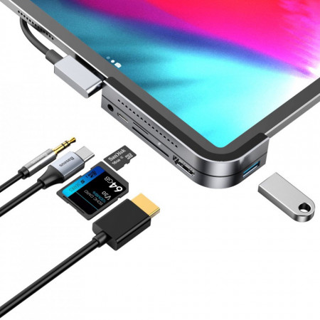 Adaptor HUB Baseus USB Type-C 6 in 1
