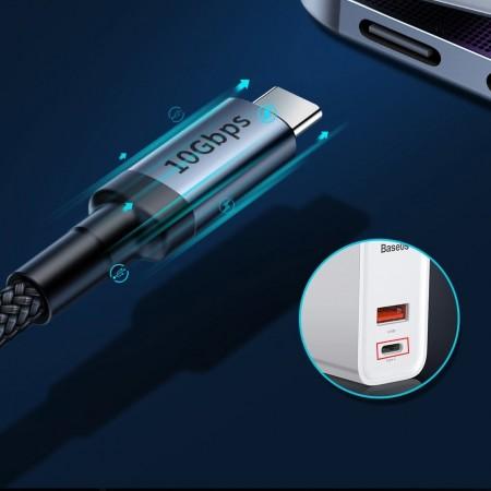 Cablu de date USB-C , Baseus Cafule USB-C PD PD3.1 60W 20V/3A QC3.0 1M
