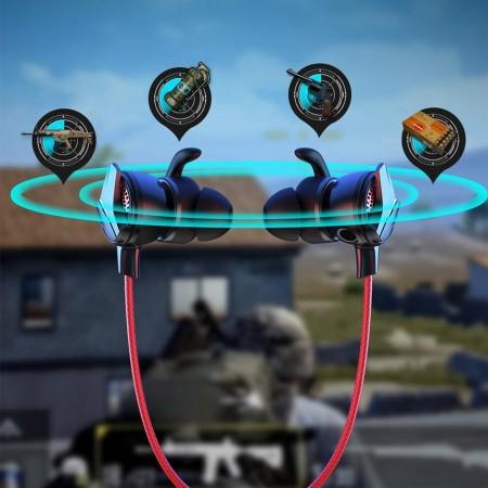 Casti audio In Ear cu microfon 10 cm, Baseus Gamo H15 , rosu