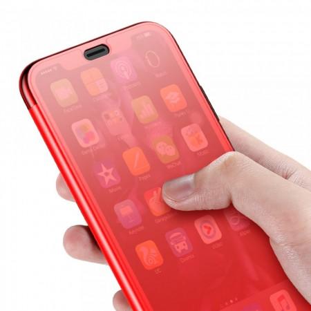 Husa Book, Baseus Touchable, TPU gel + sticla securizata, pentru iPhone XR, rosu