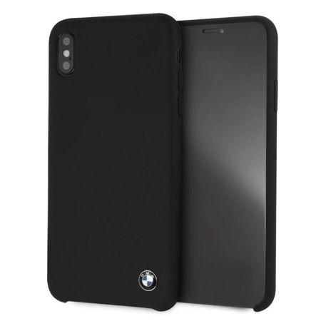 Husa telefon din silicon cu interior din microfibra , tip bumper , Bmw pentru Apple iPhone Xs Max , neagra