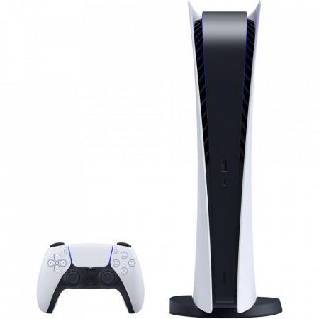 SONY Consola PlayStation 5, PS5 Digital Edition, 16GB RAM, 825 GB SSD, 100-240V, Alb