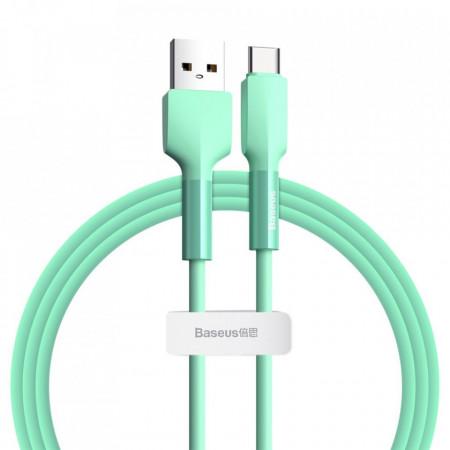 Cablu de date din silicagel, Baseus USB - Type C, 2A 2 m 480 Mbps green (CATGJ-A06)