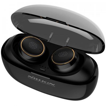 Casti Nillkin E1 Liberty TWS True Wireless Earphones Bluetooth 5.0 IPX4 water-resistance black-gold (E1 black-gold)