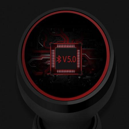 Casti Nillkin E1 Liberty TWS True Wireless Earphones Bluetooth 5.0 IPX4 water-resistance black and red (E1 black-red)