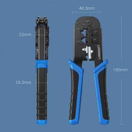 Cleste multifunctional Ugreen pentru conector ethernet RJ45 8P8C RJ11 6P2C albastru (20102)