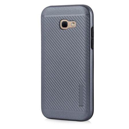 Husa telefon Puky Carbon cu placuta metalica incorporata pentru Samsung Galaxy A5 2017 , gri