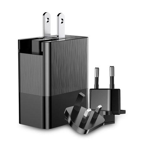 Incarcator telefon pentru calatorii cu 3 adaptoare pentru prize diferite, Baseus Duke 3x USB 3.4A , negru