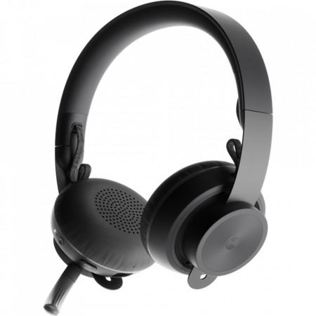 LOGITECH Casti Wireless Bluetooth Zone Plus Headset, Microfon, Buton Control, Negru