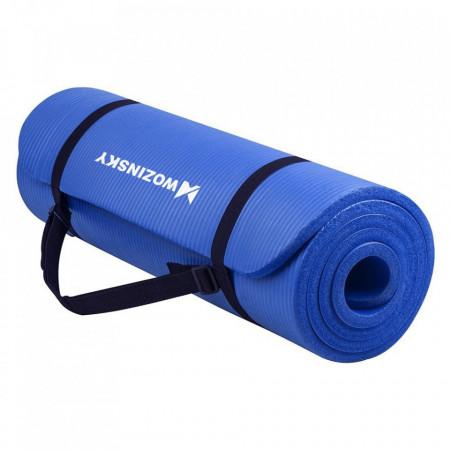 Saltea fitness antiderapanta 181 cm x 63 cm x 1 cm albastru(WNSP-blue)