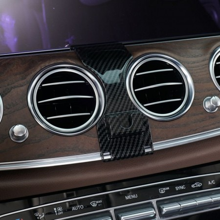 Suport auto in forma T pentru telefon CLEC cu prindere exclusiv pentru Mercedes Benz E class , negru