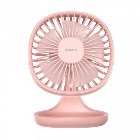 Ventilator de birou cu 3 trepte de viteza , Baseus Pudding , roz