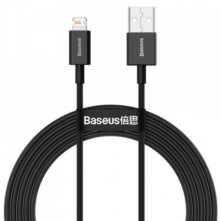 Cablu Baseus Superior USB - Lightning fast charging data cable 2,4 A 2 m black (CALYS-C01)