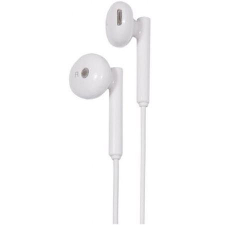 Casti audio Huawei cu microfon AM115, jack 3.5 mm , Stereo, Alb
