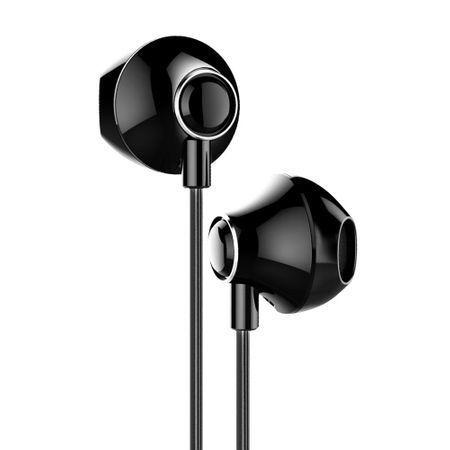Casti audio telefon cu telecomanda pentru controlul volumului , Baseus Enock H06 , jack 3.5 mm , negru