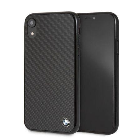 Husa telefon din carbon , tip bumper , Bmw pentru Apple iPhone XR , neagra