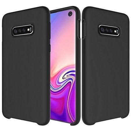 Husa telefon din silicon flexibil cu interior din material microfibra impotriva zgarieturilor , Gema Mixt pentru Samsung Galaxy S10E , negru