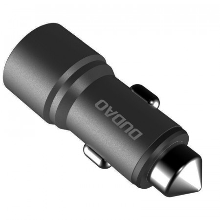Incarcator auto DUDAO 2x USB 3.1A - gri