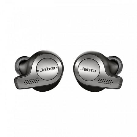 JABRA Elite 65t, Casti Bluetooth 5.0 Stereo, Caller ID, Microfon ambiental, baterie 5 - 15 ore, Black