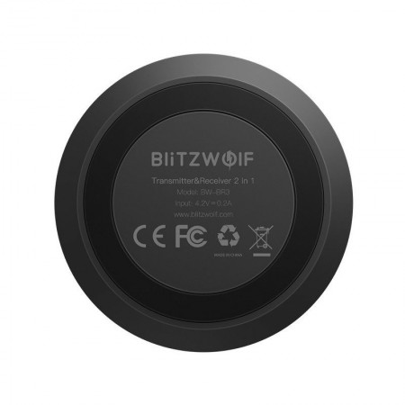 Transmitator / Receptor Bluetooth 4.1 Blitzwolf BW-BR3 , negru
