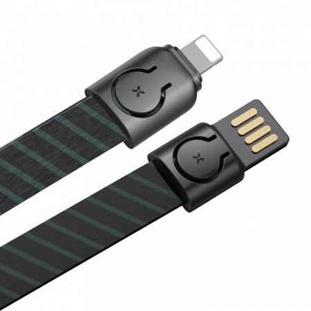 Cablu telefon Baseus Gold Collar USB For Lightning 2.4A 85cm Stripe Black