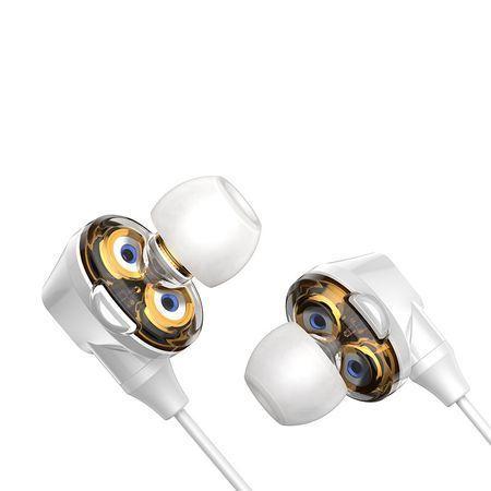 Casti telefon in ear cu bluetooth 4.1 , Baseus Encok S10 , albe