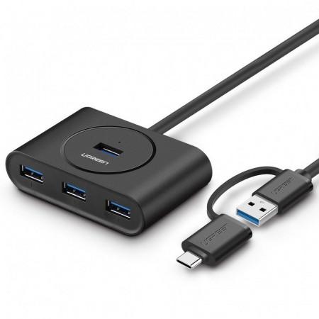 HUB UGREEN USB 3.0 + USB-C 3.1 la 4 porturi