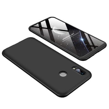 Husa 360° Matte Full Protection Gema Mixt pentru Huawei Honor Play (fata + spate ) , negru