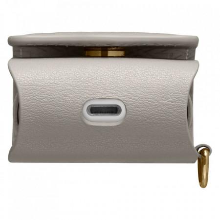 Husa Spigen La Manon Airpods Case Leather Light - gri