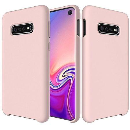 Husa telefon din silicon flexibil cu interior din material microfibra impotriva zgarieturilor , Gema Mixt pentru Samsung Galaxy S10 , roz