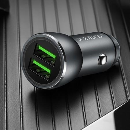Incarcator auto , Dux Ducis Smart , 2 x USB QuickCharge 3.0 , 18 W , gri