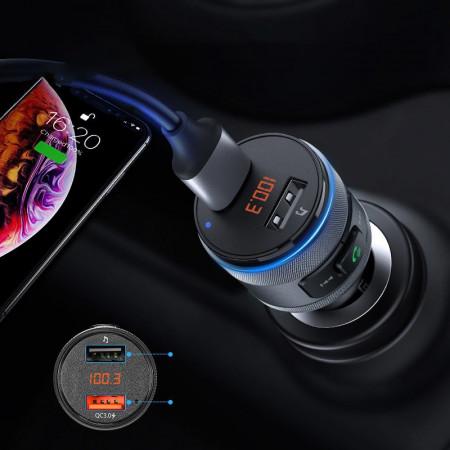 Incarcator auto si transmitator radio Ugreen USB Uxenen 2x Quick Charge 3.0, FM