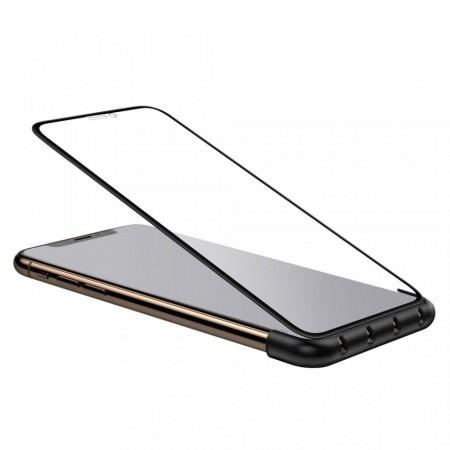 Organizator pentru cabluri telefon + aplicator folie telefon pentru iPhone X/XS , Baseus Cable Fixing Magic Tool , negru