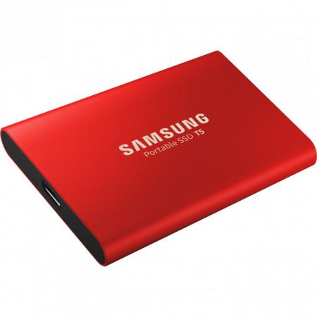 SSD extern Samsung T5 portabil, 1 TB, USB 3.1, Rosu