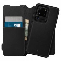 Husa Spigen tip carte/portofel Ciel Brick Samsung Galaxy S20 Ultra - negru