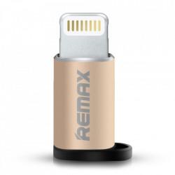 Adaptor micro USB la Lightning gold, Remax
