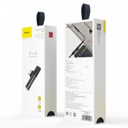Adaptor USB-C la USB-C + Jack 3.5mm audio, Baseus Audio Converter L41, negru