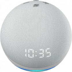 AMAZON Boxa Portabila Echo Dot 4 Cu Ceas si Asistent Personal Alexa Glacier Alb