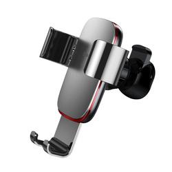 Baseus Metal Age Gravity suport auto, negru (SUYL-F01) , argintiu