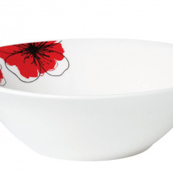 BOL PORTELAN 15 CM, RED FLOWERS