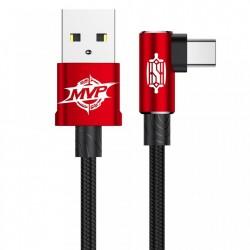 CABLU BASEUS MVP ELBOW USB LA USB-C, 2m, ROSU
