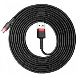 Cablu de date , Baseus Cafule USB / micro USB 2A 3M black-red (CAMKLF-H91)
