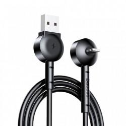 Cablu de date Baseus Maruko Lightning, Functie Stand, Fast Charge, Insertie 90° pentru iPhone, 1 m, negru