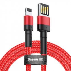 Cablu incarcare fata/verso Baseus Cafule USB- Lightning 2.4A 1m (Red)