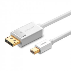 Cablu Mini DisplayPort la DisplayPort UGREEN MD105, 4K 60Hz, bidirecțional, 1,5m (alb)