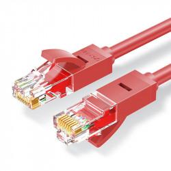 Cablu retea Ugreen Ethernet patchcord RJ45 Cat 6 UTP 1000Mbps 1 m rosu (NW102 80829)