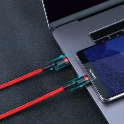 Cablu Type C BASEUS PD PD2.0 , 60W , 20V 3A QC3.0 , 1M , negru + rosu