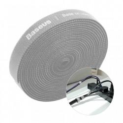 Curea Velcro Baseus pentru organizarea cablurilor , 3M , gri