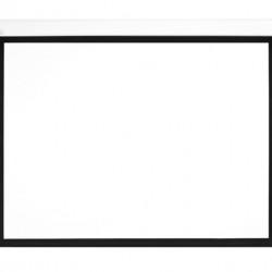 Ecran proiectie electric, perete/tavan, 240 x 135 cm, Multibrackets 0427, carcasa alba, cu bordura, Format 16:9