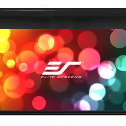 Ecran proiectie electric Tensionat, 221.5 x 124.5 cm, EliteScreens Saker SKT100UHW-E12, Trigger 12V, Drop 30cm